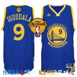 Maillot NBA Golden State Warriors Finales NO.9 Iguodala Bleu Pas Cher