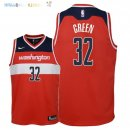 Maillot NBA Enfant Washington Wizards NO.32 Jeff Green Rouge Icon 2018 Pas Cher