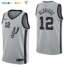 Maillot NBA San Antonio Spurs NO.12 LaMarcus Aldridge Gris Statement 2017-2018 Pas Cher
