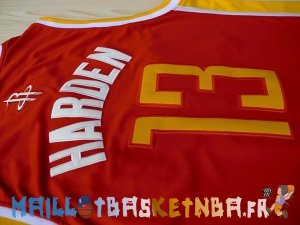 Maillot NBA Houston Rockets NO.13 James Harden Retro Rouge Pas Cher