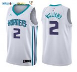 Maillot NBA Charlotte Hornets NO.2 Marvin Williams Blanc Association 2017-2018 Pas Cher