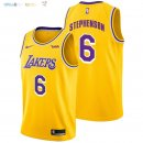 Maillot NBA Los Angeles Lakers NO.6 Lance Stephenson Jaune 2018-2019 Pas Cher