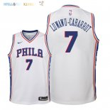 Maillot NBA Enfant Philadelphia Sixers NO.7 Timothe Luwawu Cabarrot Blanc Association 2018 Pas Cher