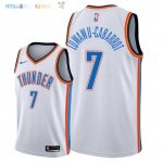 Maillot NBA Oklahoma City Thunder NO.7 Timothe Luwawu Cabarrot Blanc Association 2018 Pas Cher
