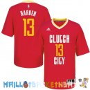 Maillot NBA Houston Rockets Manche Courte 13 James Harden Rouge Pas Cher