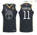 Maillot NBA Golden State Warriors Nike NO.11 Klay Thompson Noir Pas Cher