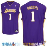 Maillot NBA L.A.Lakers NO.1 D'Angelo Russell Purpura Pas Cher