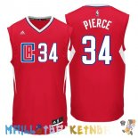 Maillot NBA L.A.Clippers NO.34 Paul Pierce Rouge Pas Cher