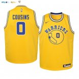 Maillot NBA Enfant Golden State Warriors NO.0 DeMarcus Cousins Or Hardwood Classics 2019-20