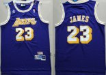 Maillot NBA Los AngelesLakers NO.23 Lebron James Retro Pourpre Pas Cher
