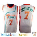 Maillot NBA Film Basket-Ball Flint Hill NO.7 Coffee Black Blanc Pas Cher