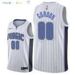 Maillot NBA Orlando Magic NO.0 Aaron Gordon Blanc Association 2018 Pas Cher