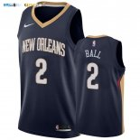 Maillot New Orleans Pelicans NO.2 Lonzo Ball Marine Icon 2019-20