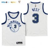 Maillot NBA Enfant Golden State Warriors NO.3 David West Nike Retro Blanc Pas Cher