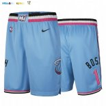 Pantalon NBA Miami Heat Nike NO.1 Chris Bosh Nike Bleu Ville Pas Cher
