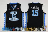 Maillot NCAA Enfants North Carolina NO.15 Vince Carter Noir Pas Cher