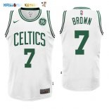 Maillot NBA Boston Celtics NO.7 Jaylen Brown Blanc 2017-2018 Pas Cher