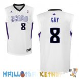 Maillot NBA Sacramento Kings NO.8 Rudy Gay Blanc Pas Cher