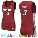 Maillot NBA Femme Miami Heat NO.3 Dwyane Wadet Rouge Pas Cher