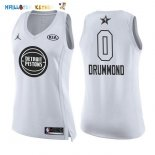 Maillot NBA Femme 2018 All Star NO.0 Andre Drummond Blanc Pas Cher