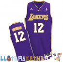 Maillot NBA L.A.Lakers NO.12 Dwight Howard Purpura Pas Cher