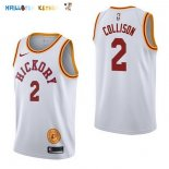 Maillot NBA Indiana Pacers NO.2 Darren Collison Retro Blanc 2017-2018 Pas Cher