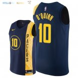 Maillot NBA Indiana Pacers NO.10 Kyle O'Quinn Nike Marine Ville 2018-2019 Pas Cher