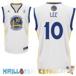 Maillot NBA Golden State Warriors NO.10 David Lee Blanc Pas Cher