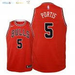 Maillot NBA Enfant Chicago Bulls NO.5 Bobby Portis Rouge Icon 2018 Pas Cher