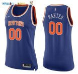 Maillot NBA Femme New York Knicks NO.0 Enes Kanter Bleu Icon Pas Cher
