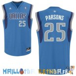 Maillot NBA Dallas Mavericks NO.25 Chandler Parsons Bleu Pas Cher