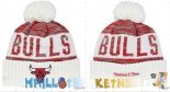 New Era Bonnet NBA 2016 Chicago Bulls Rouge Blanc Pas Cher