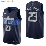 Maillot NBA Dallas Mavericks NO.23 Wesley Matthews Noir Statement 2017-2018 Pas Cher