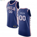 Maillot NBA Philadelphia Sixers NO.0 Jacob Pullen Bleu Icon 2017-2018 Pas Cher