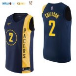 Maillot NBA Indiana Pacers NO.2 Darren Collison Nike Marine Ville 2017-2018 Pas Cher