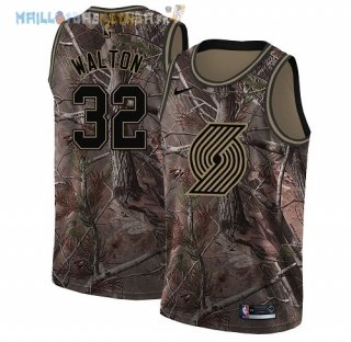 Maillot Portland Trail Blazers NO.32 Bill Walton Camo NBA Swingman Collection Realtree 2018 Pas Cher