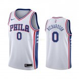 Maillot NBA Philadelphia Sixers Nike NO.0 Josh Richardson Blanc Association 2019-20 Pas Cher