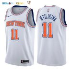 Maillot NBA New York Knicks NO.11 Frank Ntilikina Blanc Statement 2017-2018 Pas Cher