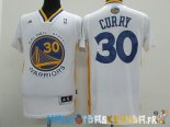 Maillot NBA Golden State Warriors Manche Courte NO.30 Stephen Curry Blanc Pas Cher