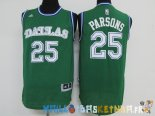 Maillot NBA Dallas Mavericks NO.25 Chandler Parsons Vert Pas Cher