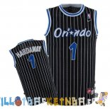 Maillot NBA Orlando Magic NO.1 Anfernee Hardaway Noir Pas Cher