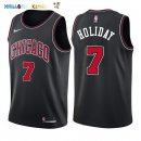 Maillot NBA Chicago Bulls NO.7 Justin Holiday Noir Statement 2017-2018 Pas Cher