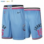 Pantalon NBA Miami Heat Nike NO.16 James Johnson Nike Bleu Ville Pas Cher