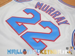 Maillot NBA Tune Squad NO.22 Murray Blanc Pas Cher
