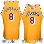 Maillot NBA L.A.Lakers NO.8 Kobe Bryant Jaune Pas Cher