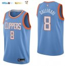 Maillot NBA Los Angeles Clippers NO.8 Danilo Gallinari Nike Bleu Ville 2017-2018 Pas Cher