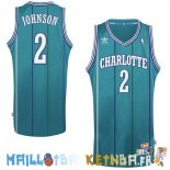 Maillot NBA Charlotte Hornets NO.2 Larry Demetric Johnson Vert Pas Cher