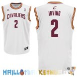 Maillot NBA Cleveland Cavaliers NO.2 Kyrie Irving Blanc Pas Cher