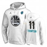 Hoodies NBA 2019 All Star Golden State Warriors NO.11 Klay Thompson Blanc Pas Cher