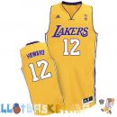Maillot NBA L.A.Lakers NO.12 Dwight Howard Jaune Pas Cher